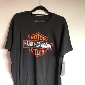 Harley Davidson Men's Logo Tee Distressed Graphics
